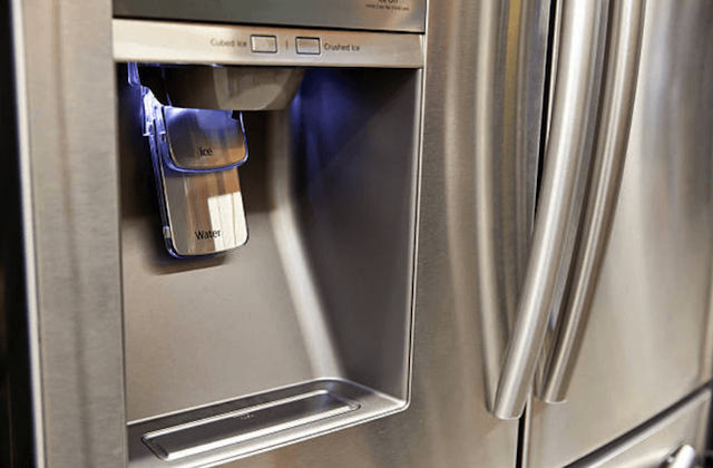 broken refrigerator water dispenser